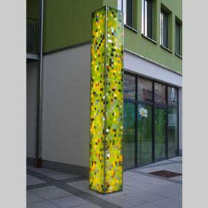 Glasstele aus VSG Glas in der Altneugasse Wittlich, 2013