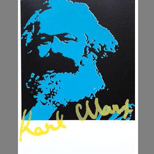 Kulturaktie 2017 der Stadt Trier: Blue Marx! Anlässlich seines 200. Geburtstags im Jahr 2018 wird er mit der Kulturaktie in einer Auflage von 250 Stück geehrt. Zu erwerben für 50 €.