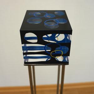 Würfel 10 x 10 cm aus massivem Plexiglas mit Lack bedruckt - Wand-oder Raumobjekte